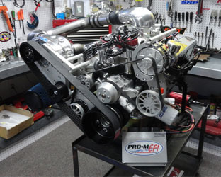 Procharged Ford Engine